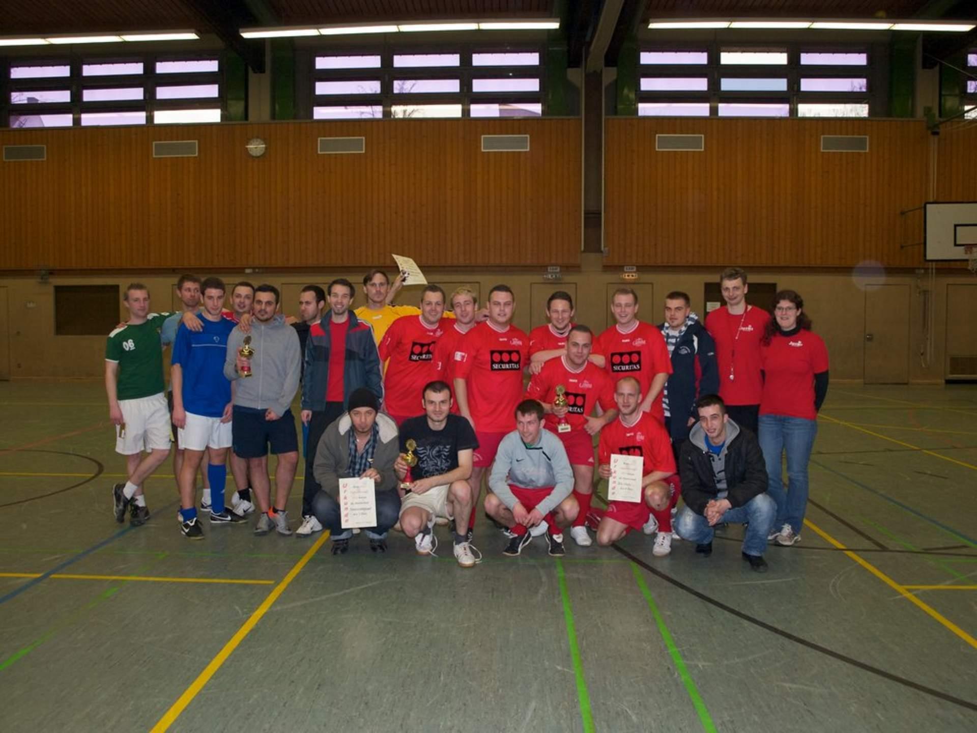 Die Siegerehrung des Jusos Fußballturnier 2011