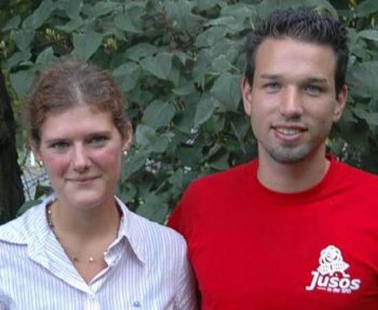 Juso-Vorsitzende: Anna Kristina Tanev und Martin Wilhelm